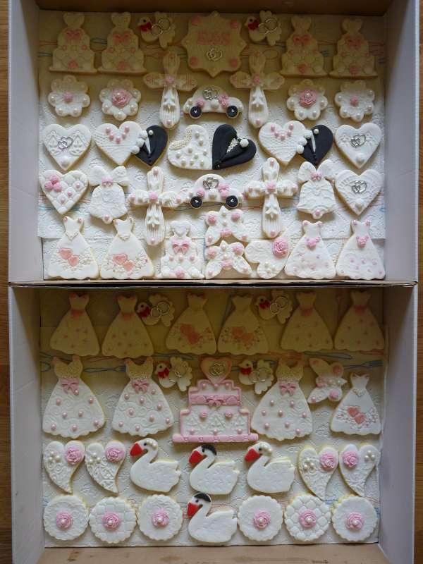 Svadobné linecké koláčiky torta, Svadobné torty, mana1