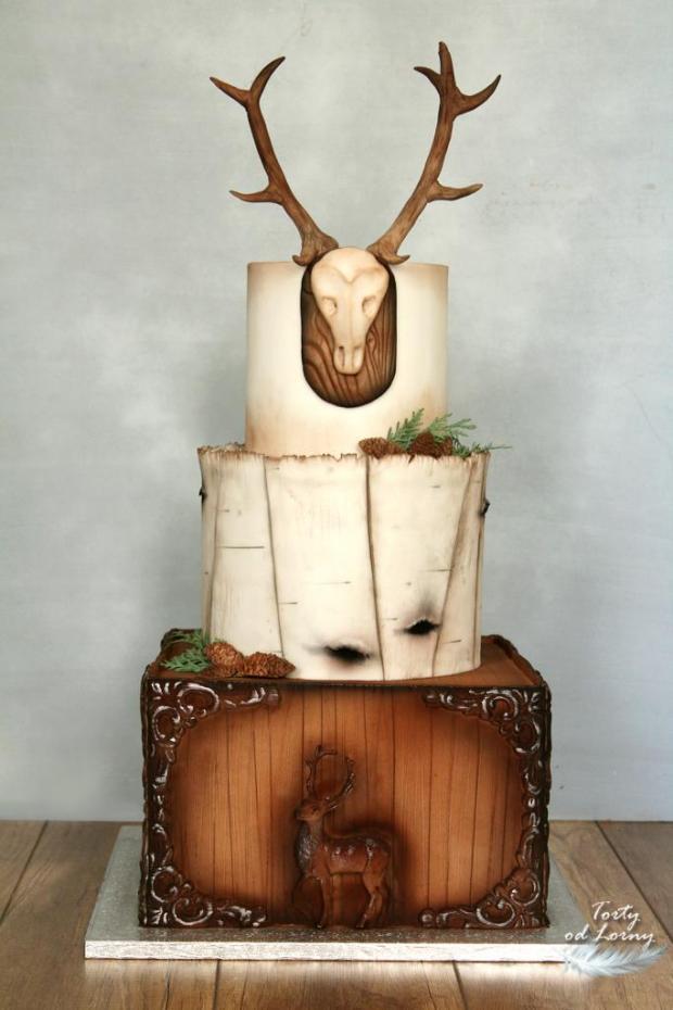 Pre poľovníka.. torta, Narodeninové torty, Lorna