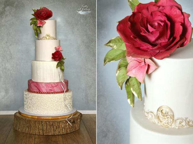 Svadobná elegantná torta, Svadobné torty, Lorna 4