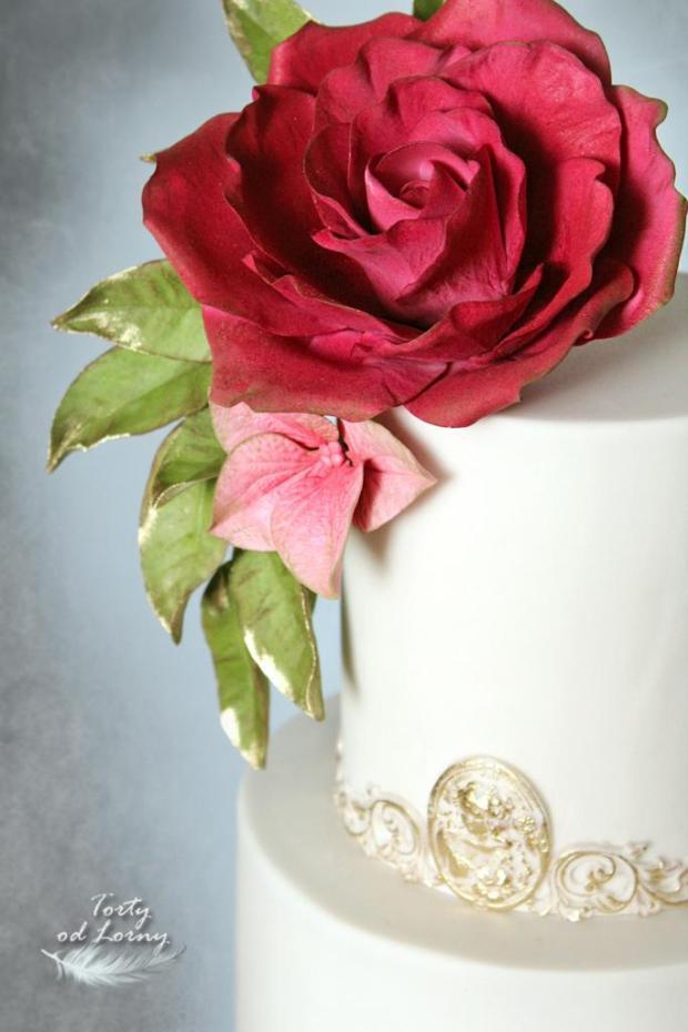 Svadobná elegantná torta, Svadobné torty, Lorna 2
