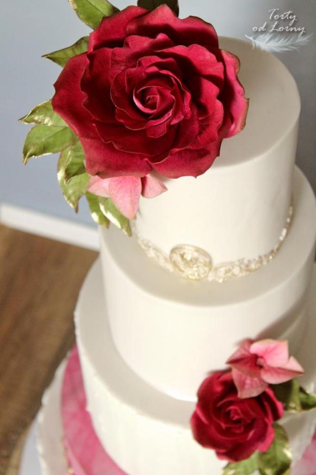 Svadobná elegantná torta, Svadobné torty, Lorna 3