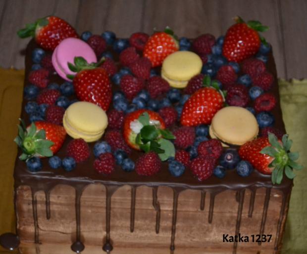 čokoládovo-ovocná torta, Čokoládové torty, katka1237