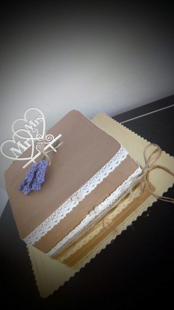 Svadobná v hnedom s krajkou torta, Svadobné torty, veronika1311