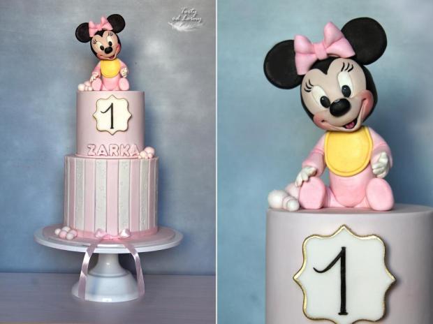 Minnie mouse baby 3 torta, Rozprávkové torty, Lorna 3