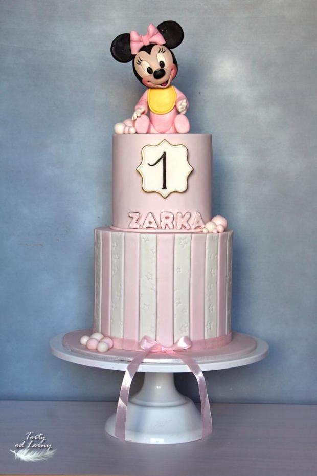 Minnie mouse baby 3 torta, Rozprávkové torty, Lorna