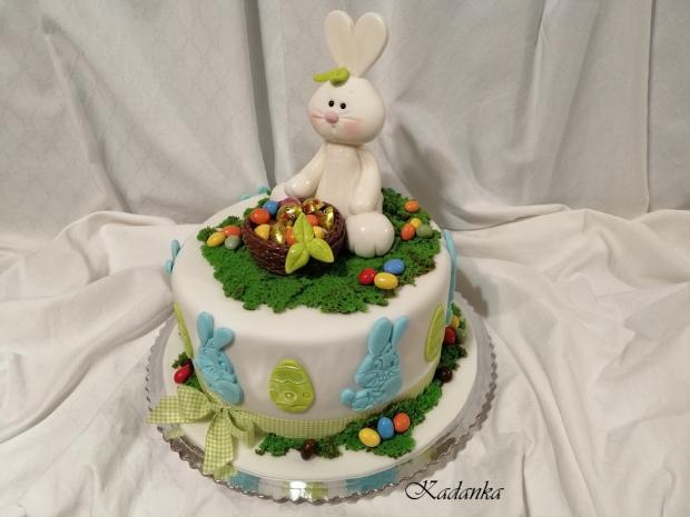 Torta s veľkonočný zajačikom s nádielkou