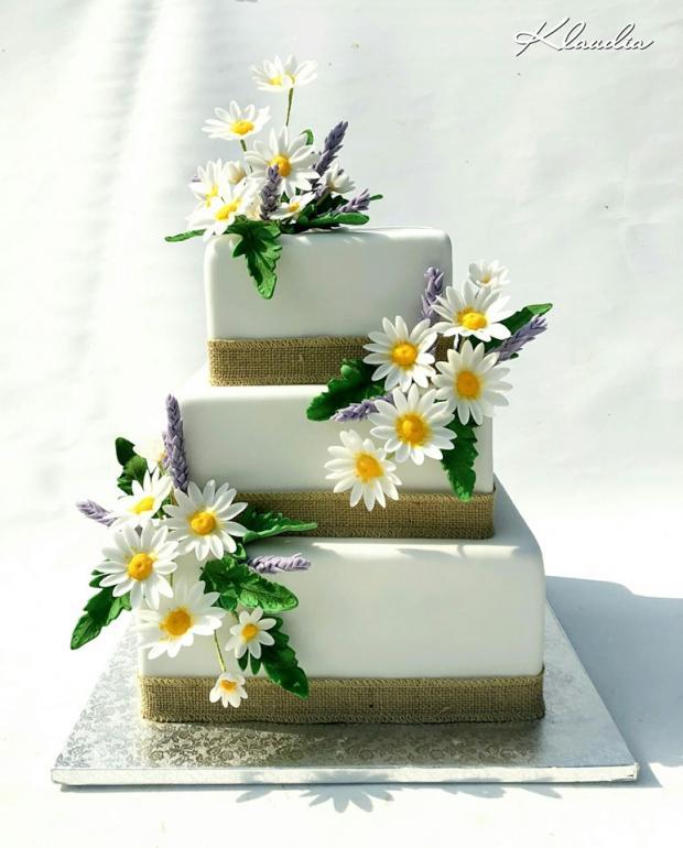 s margarétkami torta, Svadobné torty, TORTY Klaudia
