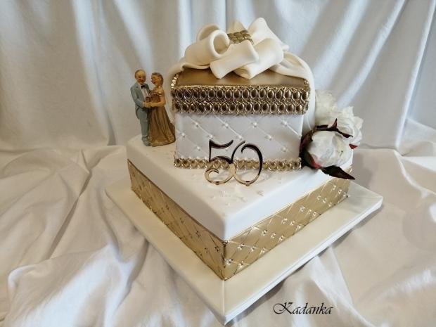 Zlatá svadba... torta, Svadobné torty, Kadanka 2