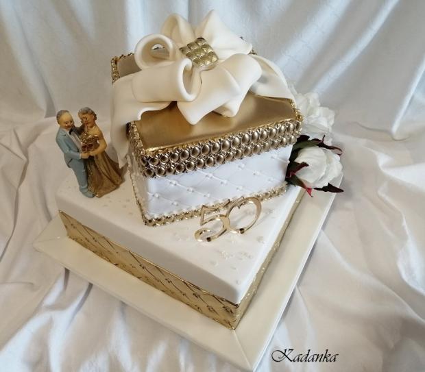 Zlatá svadba... torta, Svadobné torty, Kadanka 3