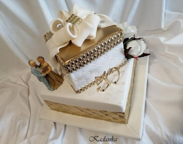 Zlatá svadba... torta, Svadobné torty, Kadanka 4