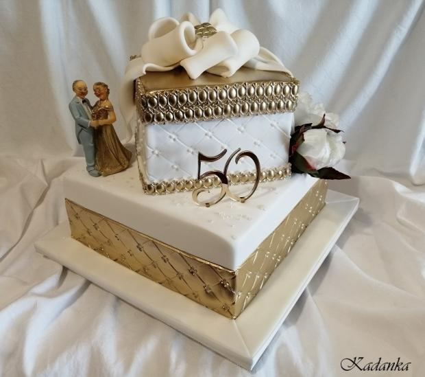 Zlatá svadba... torta, Svadobné torty, Kadanka