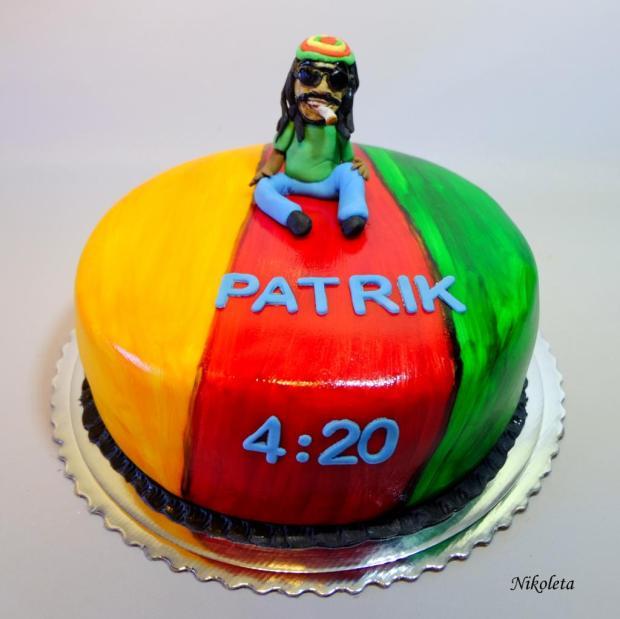 Bob Marley torta, Narodeninové torty, Nikoleta