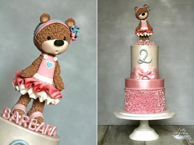 Detská torta s medvedíkom torta, Torty pre dievčatá, Lorna 3