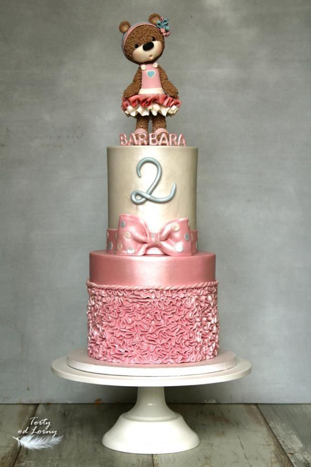 Detská torta s medvedíkom torta, Torty pre dievčatá, Lorna