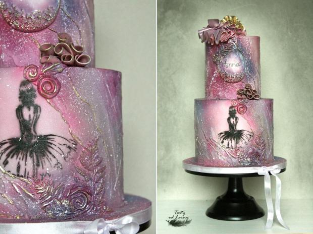 Romantická narodeninová torta s baletkou torta, Narodeninové torty, Lorna