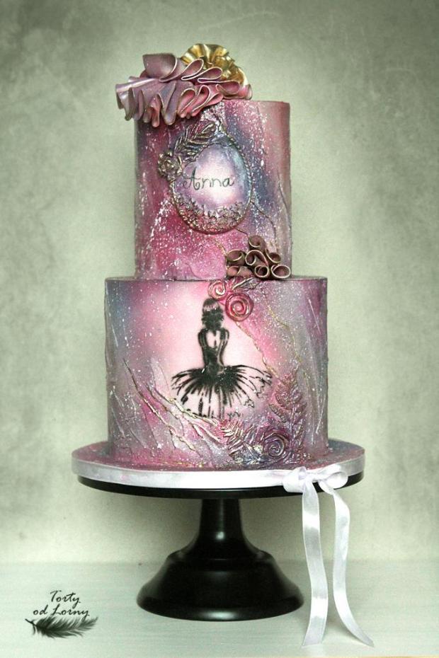 Romantická narodeninová torta s baletkou torta, Narodeninové torty, Lorna 2