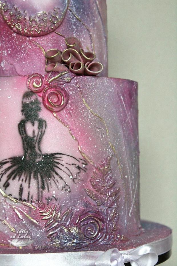 Romantická narodeninová torta s baletkou torta, Narodeninové torty, Lorna 3