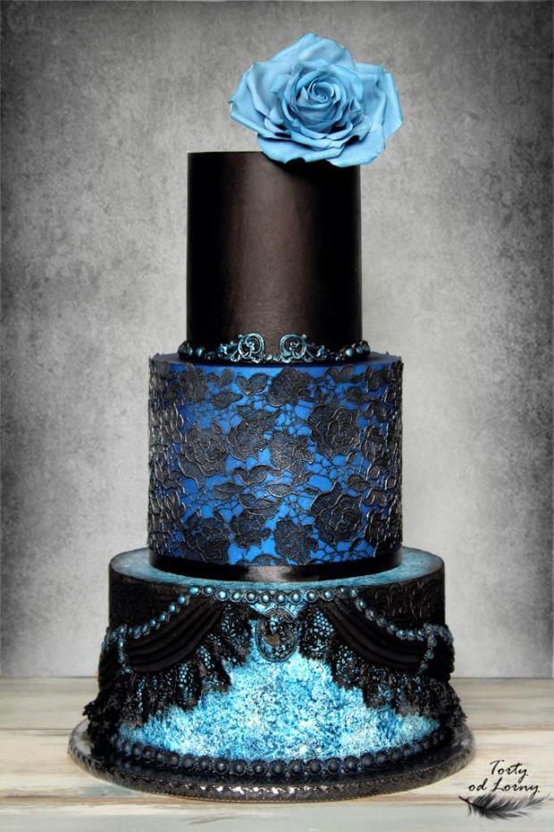 Gotická svadobná torta torta, Svadobné torty, Lorna