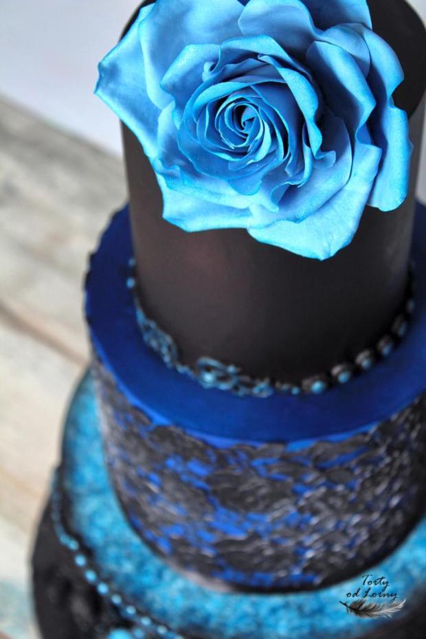 Gotická svadobná torta torta, Svadobné torty, Lorna 3
