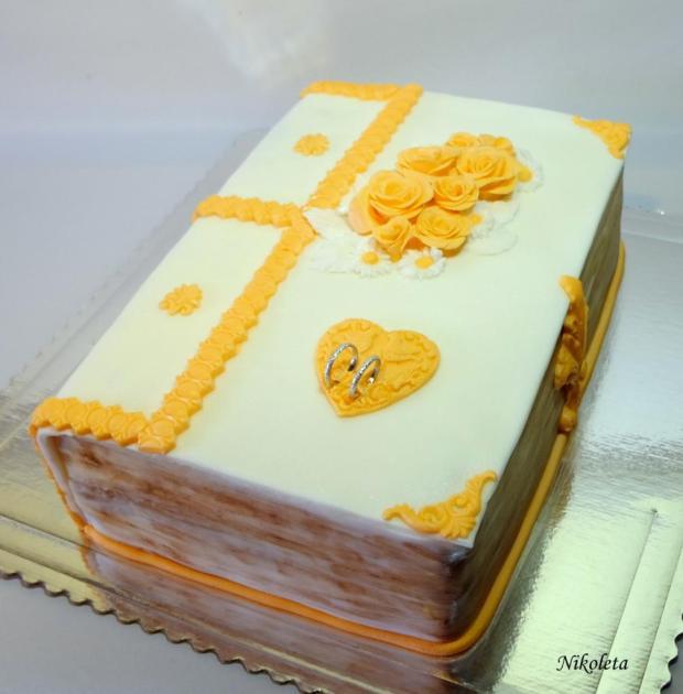 svadobná kniha torta, Svadobné torty, Nikoleta