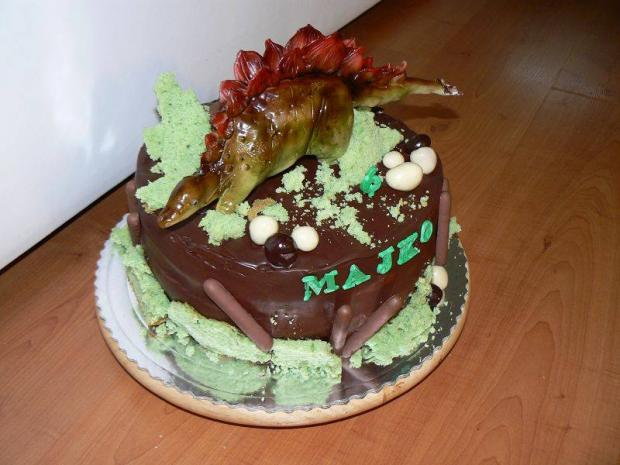 Čokoládová torta s Dinosaurom torta, Čokoládové torty, yvetta11111