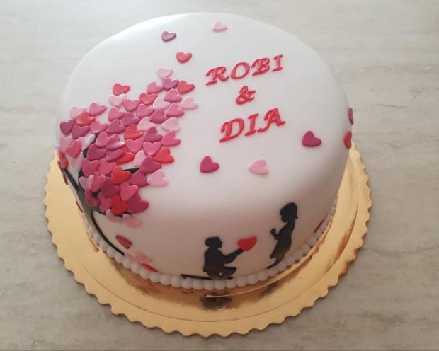 zásnubná torta, Svadobné torty, Janka208