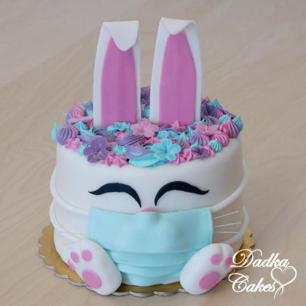 Torta veľkonočný zajačik s rúškom