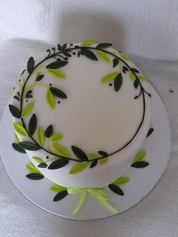 Svadobná jednoduchá darovacia torta, Svadobné torty, stanula 2