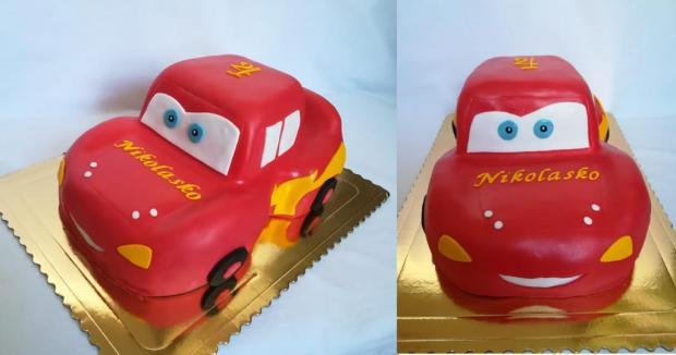 Mcqueen  torta, Torty autíčka, vláčiky, MartinaO