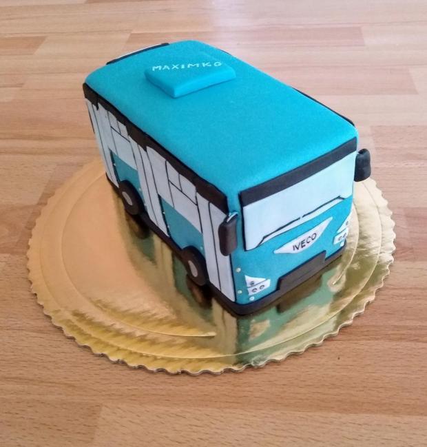 Mini autobusík torta, Torty autíčka, vláčiky, Mirka02