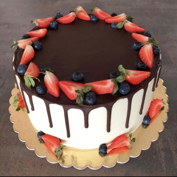 Ovocná s mascarpone torta, Čokoládové torty, BarboraBarbs