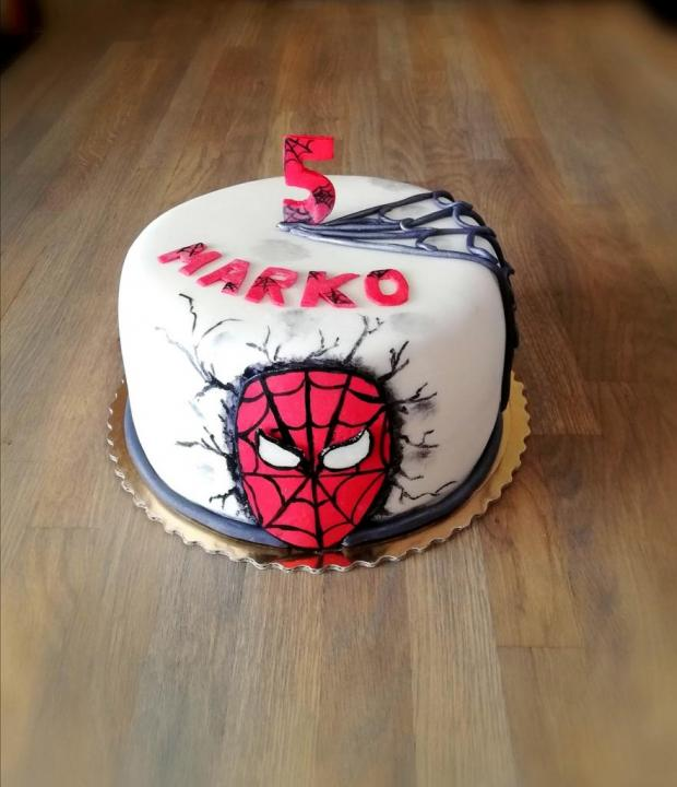 Spiderman  torta, Rozprávkové torty, Ady033