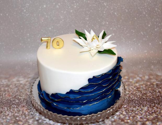 Narodeninová ku krásnemu životnému jubileu  torta, Narodeninové torty, AničkaL