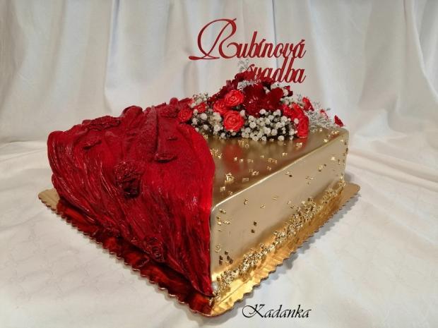 Rubínová svadba... torta, Svadobné torty, Kadanka