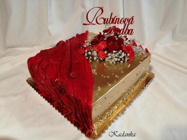 Rubínová svadba... torta, Svadobné torty, Kadanka 2