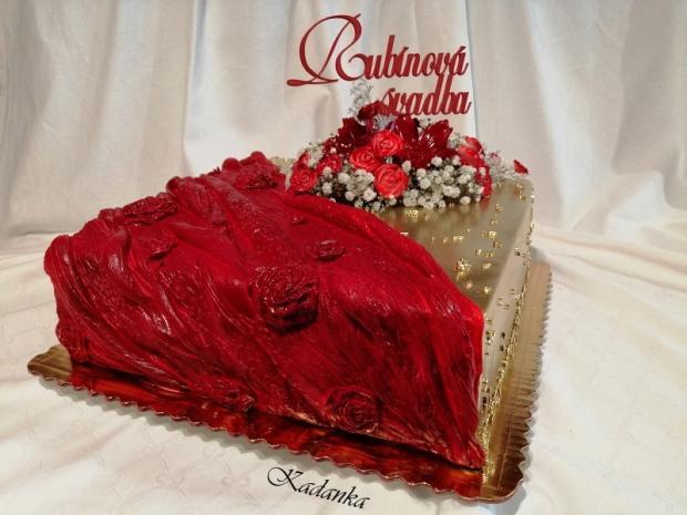 Rubínová svadba... torta, Svadobné torty, Kadanka 4