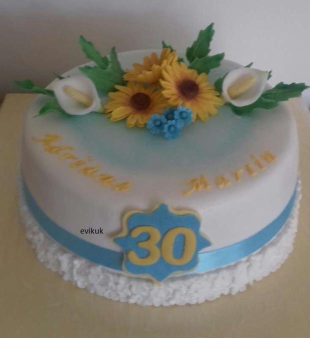 30. narodeniny torta, Narodeninové torty, evikuk