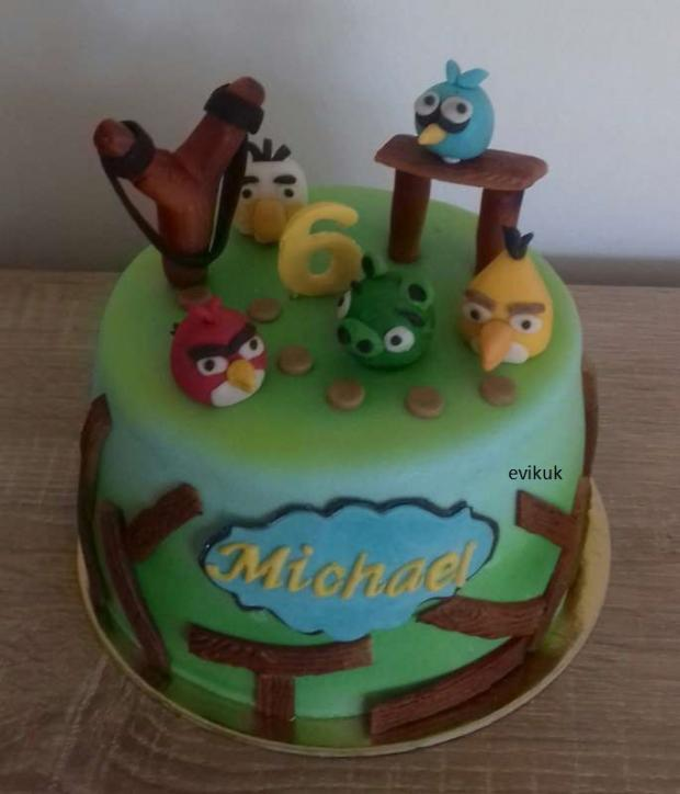 detská s angry birds torta, Torty zvieratká, evikuk