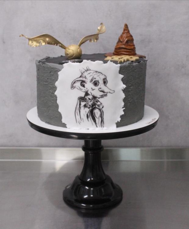 Harry Potter torta - ručne maľovaný Dobby torta, Rozprávkové torty, Cakes by Miša