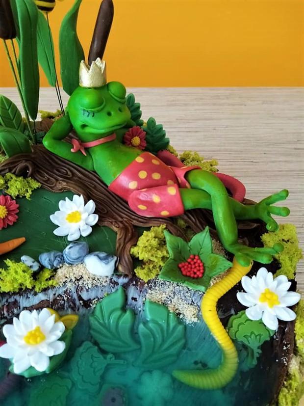 So žabkou pri rybníčku torta, Torty zvieratká, iveta02 2