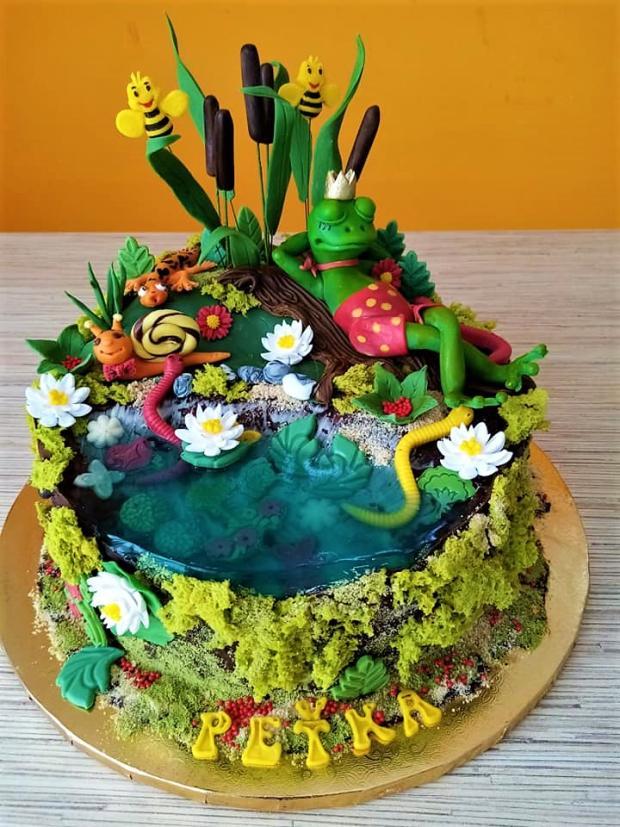 So žabkou pri rybníčku torta, Torty zvieratká, iveta02