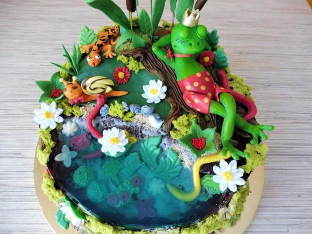 So žabkou pri rybníčku torta, Torty zvieratká, iveta02 3