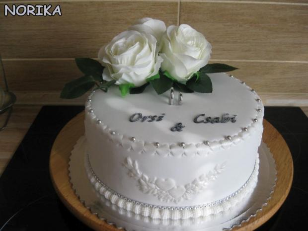 Orsi-Csaba torta, Svadobné torty, norika