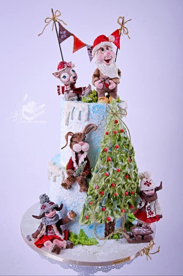 Vianočná rozprávka torta, Rozprávkové torty, Ďurčekova Martina
