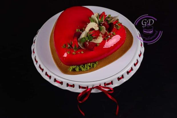 Srdiečko - francúzsky dezert