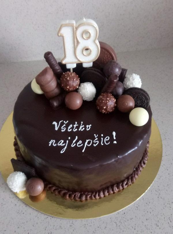 Torta plná čokolády torta, Čokoládové torty, mariaJ