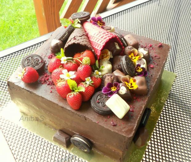 narodeninová torta, Čokoládové torty, anibas