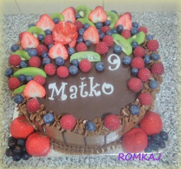 narodeninová torta, Čokoládové torty, ROMKAJ