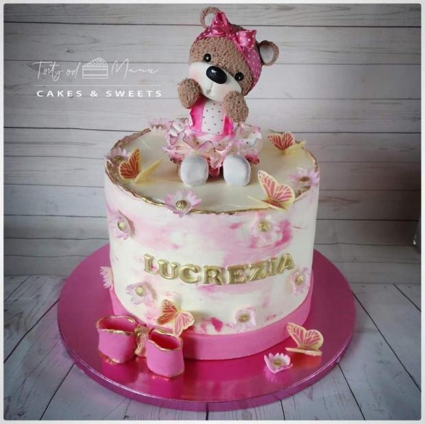 Krstinová tortička  torta, Torty na krstiny, Manu Sinoj