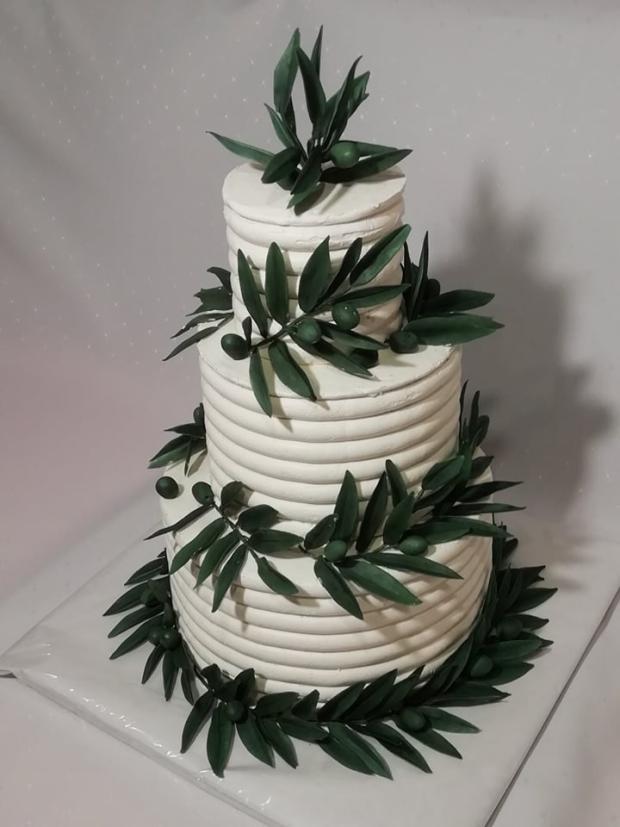 svadobná s olivovými vetvičkami torta, Svadobné torty, andreao